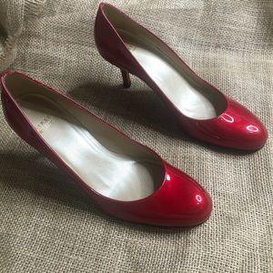 Stuart Weitzman 6 Red Pumps Dorothy Heels Shiny